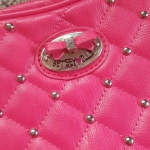 Betsey Johnson Bags - Small Textured Studded Cross Body Purse